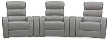top rated home theater seating bravo 5 piece power reclining home theater sectional gray