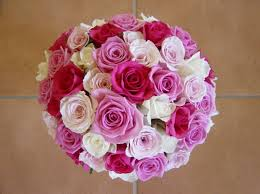 Wedding Flowers Roses Red Pink And White Roses Wedding Bride Bouquets Bridal Bouquets