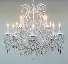Iron Chandelier With Crystals A83 White 3034 8 4 Gallery Wrought With Crystal Wrought Iron