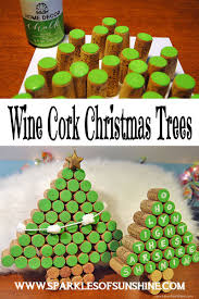 wine cork christmas trees cork christmas tree and sunshine