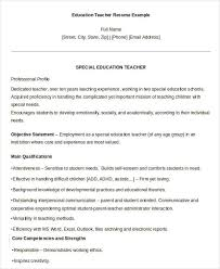 free teacher resume 40 free word pdf documents download free