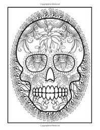 skull coloring pages adults printable sugar skull
