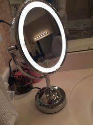 conair chrome magnifying countertop vanity mirror with light conair 5x magnified lighted makeup mirror lights chrome finish