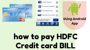 Be Like Bill Android Apps - how to pay hdfc credit card bill using android mobile app youtube