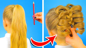 cute hairstyles you can do in 5 minutes 12 cute hairstyles to be ready in one minute youtube