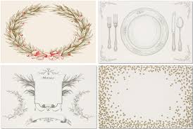 vintage paper placemats and serveware