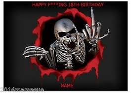 gothic skeleton emo skull a4 edible birthday cake topper wafer