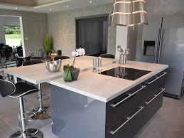 cuisine gris foncé cuisine ilot centrale design 17 cuisine gris anthracite top