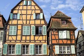 colmar haut rhin alsace france exterior of old half timbered
