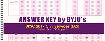 answer key upsc 2017 civil services prelims exam general studies