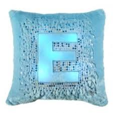 light blue girls bedding light up initial pillow girls bedding from justice