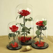 Rose Home Decor List Manufacturers Of Preserved Rose In Glass Buy Preserved Rose
