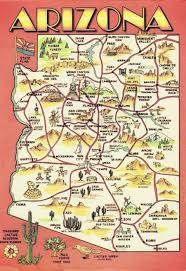 map of az an illustrated map of arizona wish i were here
