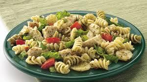 pasta salad pesto chicken pesto salad recipe bettycrocker com