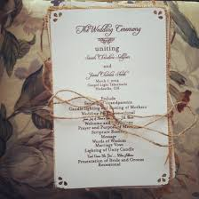 rustic wedding programs rustic clean wedding programs