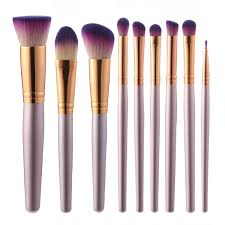 makeup artist tools 9pcs luckyfine soft makeup brushes set blend foundation liner