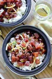 oignon blanc cuisine poke bowl cube de thon oignon nouveau oignon jaune avocat et