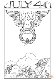 july 4th vintage postcard coloring page free printable coloring