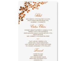 wedding menu cards template menu card template