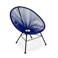 acapulco chaise 62 sur fauteuil acapulco chaise oeuf design bleu roi s