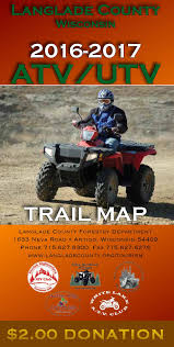 Wisconsin Atv Trail Map by Langlade County Tourism L Guides And Maps