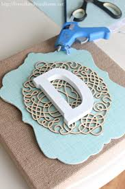 Home Decor With Burlap Diy Layered Burlap Monogram Burlap Monogram Diy Wall Decor And