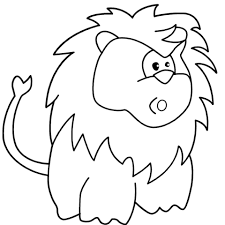 surprised cartoon lion coloring free printable coloring pages