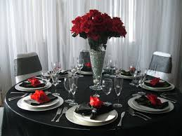 Red Wedding Decorations Modern Black And Red Wedding Decorations With Black Red White