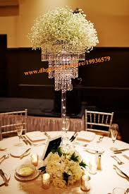 Tabletop Chandelier Centerpiece by H70cm Crystal Pendant Chandelier 3 Tier Sparkling Acrylic Beaded