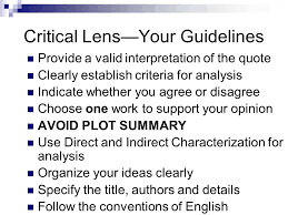 Writing the Critical Lens Essay New York State English Regents     SlidePlayer