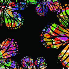 colorful butterfly border design free vector 28 297 free