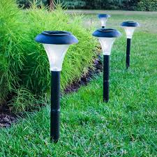 solar powered patio lights solar led garden lights set of 10 garden designs