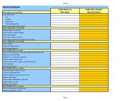 Maintenance Checklist Template Excel Car Maintenance Checklist Spreadsheet Laobingkaisuo Intended For