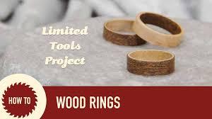 how to make wood rings with veneer