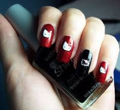 nail designs cute hello kitty nail designs easy hello kitty nail