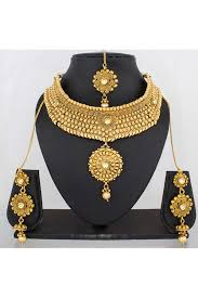 copper necklace set images Copper necklace set gold colour jpg