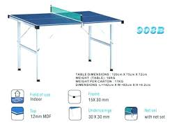 what size is a regulation ping pong table ping pong table sizes potatobag club