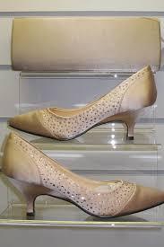 wedding shoes kitten heel uk flv327 zlv327 chagne 2 inch kitten heel shoe with clutch bag