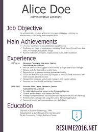 resume design sample resume examples templates free sample effective resume examples