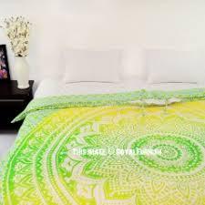 Green Double Duvet Cover Popular Mandala Bedding Set Boho Duvet Covers Royal Furnish