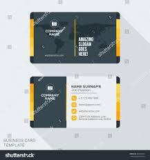 Flat Design Business Card Modern Creative Business Card Template Flat Stock Vector 400996564