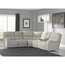 Ashley Furniture Microfiber Sectional Ashley Furniture Bohannon Reclining Power Sectional In Putty