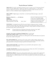 Online Instructor Resume Resume Objective For Teacher Best Sample Resume