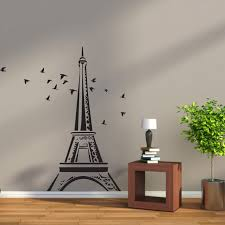 Eiffel Tower Wallpaper For Walls Wall Decal Eiffel Tower With Flying Birds Decals Australia Fixate