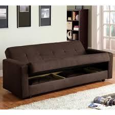 Futon Sleeper Sofa Bed Furniture Of America Black Elephant Skin Microfiber Futon Sofabed