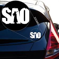 Car Window Flags Amazon Com Sword Art Online Decal Sticker For Car Window Laptop