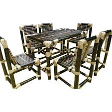 Bamboo Dining Table Set M J Crafts Bamboo Dining Table Set Rs 28000 Set M J Crafts
