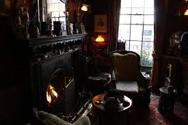 a study of the house at 221b baker street emm in london