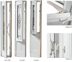 Vented Exterior Door Entry Doors Vented Sidelites Entry Doors