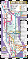 Nyc Subway Map App by Streetwise Manhattan Bus Subway Map Laminated Subway Map Of New
